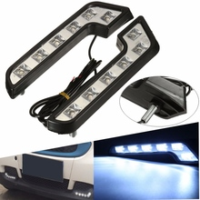 2Pcs 12V 5W Led DRL L Shaped White Car Auto VAN Driving Lamp LED Drivi