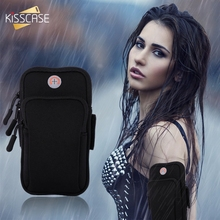 KISSCASE Sport Waterproof Armband For iPhone X 7 8 Plus 6 6S Plus 5 Armband Case For Galaxy S9 S8 Plus For Huawei Honor Series kisscase candy colorful universal selfie stick for iphone 7 8 for huawei portable mini self timer for samsung galaxy s8 s9 plus
