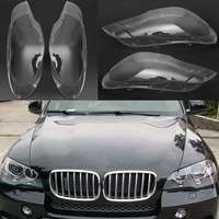 2Pcs Car Left &Right Headlamp Shell Headlight Lens Replacement Cover for BMW 2007 2012 X5 E70 Car Lights Headlight Lamp Case