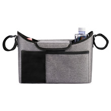 Baby Stroller Organizer Fits All Strollers, Cup Holders, Extra-Large Storage Space Stroller Bag(China)