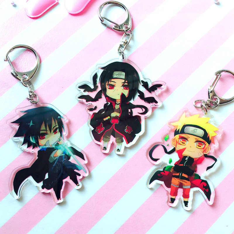 Hot Anime Naruto Sleutelhangers Houder Mode Japanse Cartoon Hokage Ninjia Uchiha Sasuke Uchiha Itachi Sleutelhangers Sleutelhangers Sieraden