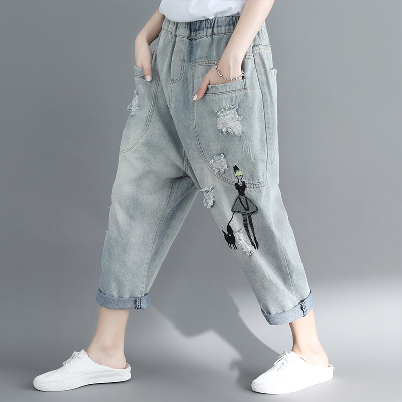 Cheap Wholesale 2019 New Autumn Winter Hot Selling Women's Fashion Casual  Denim Pants MP152