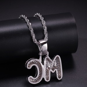 Image 5 - UWIN Small Custom Bubble Letters Pendant Necklace Combination Words Name With 4mm Tennis Chains Full Iced Cubic Zirconia Jewelry