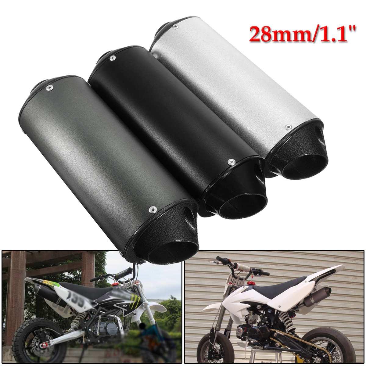 28mm Motorrad Schalldämpfer Auspuffrohr Schalldämpfer 50cc 110cc 125cc Dirt Pit Rro Quad Bike Atv Strukturelle Behinderungen