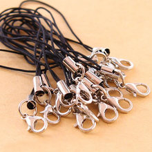 DIY Lanyard Keychain for USB Flash Strap String 7CM Length Black With Clip(China)