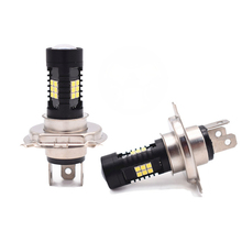 цена на 2pc 3-side H4 9003 HB2 12V Hi/Lo Beam Fog Lamp Driving Light Bulb White for Motorcycle Cars 6000K
