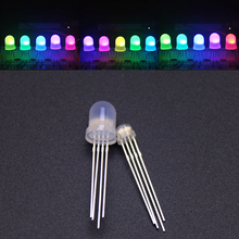 5 1000pcs DC5V Diffused Round hat RGB LED with WS2811 5mm F5 8mm F8 pixels Arduino led chips RGB full color addressable LEDs