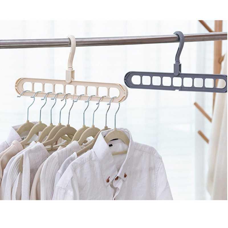 Горячая продажа многопортовая поддержка круг вешалка для одежды сушилка для одежды Многофункциональный Пластиковые Крючки для хранения