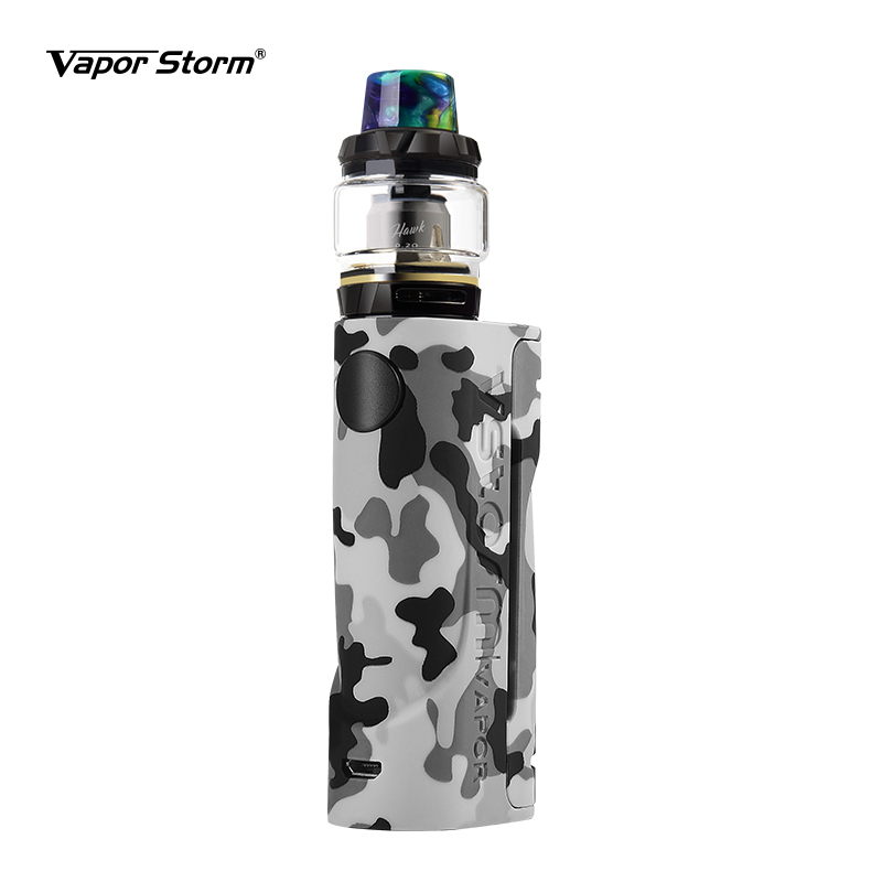 Vapor Storm ECO Hawk Tank Electronic Cigarettes Graffiti Vape Kit Without 18650 Battery Bypass Box Mod 2ml Sub Ohm Tank Kits