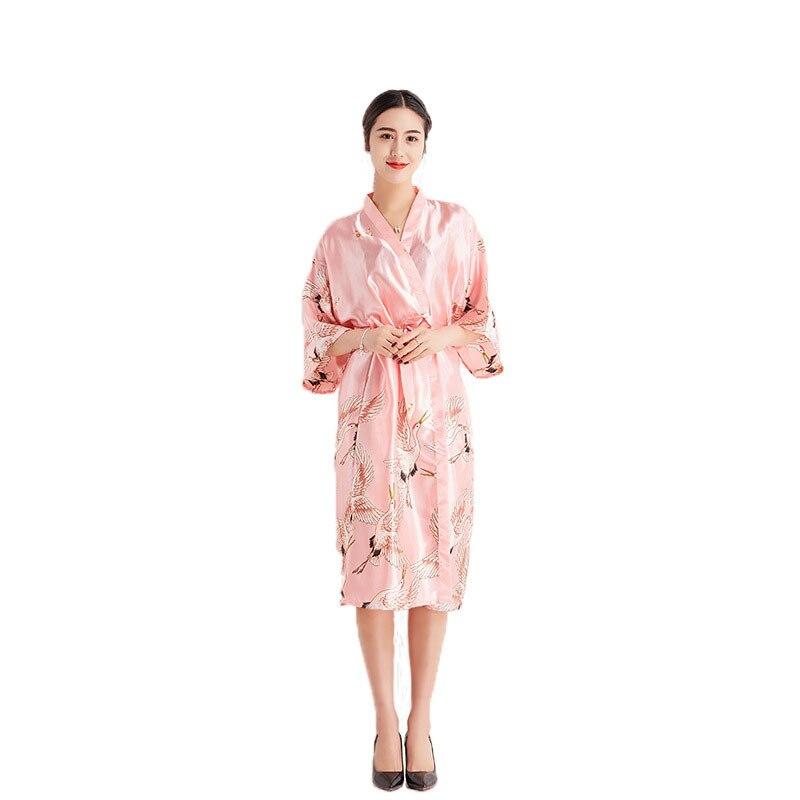 8a2ed1579f 2019 new spring and summer sexy bridesmaid silk a piece robes for women  wedding shower bathrobe