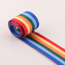 Rainbow color 1/3/5/10Yards 38mm width polyester/cotton Canvas Webbing Strap Bag Belt Garment  Sewing Accessories obsidian necklace natural stone wolf head pendant buddha guardian ball chain carving amulet with obsidian blessing lucky jewelry