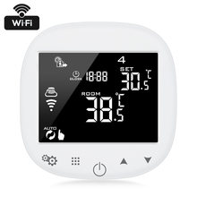 WiFi Underfloor Thermostat Room Temperature Regulator Digital Touch Screen Temperature Wireless APP Control with Humidity Sensor(China)