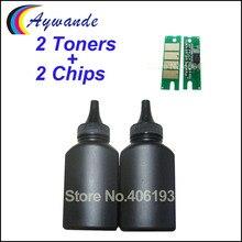 2 тонера + 2 чипа для Ricoh SP150 SP 150 SP150su SP150w SP150suw SP150 su SP150 w SP150 suw SP 150su, сменный тонерный порошок
