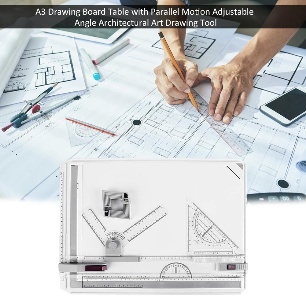 High Quality A3 Drawing Board Table With Parallel Motion Adjustable Angle Architectural Art Drawing Tool Support Fast DeliverHigh Quality A3 Drawing Board Table With Parallel Motion Adjustable Angle Architectural Art Drawing Tool Support Fast Deliver