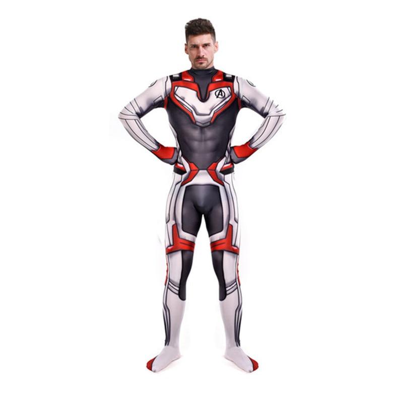 Avengers Endgame Quantum Realm Cosplay Costume Superhero Captain America Captain Zentai Bodysuit Suit Jumpsuits