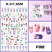 1 Sheet Optional Different Colors Feather Fashionable Nail Art Decor   3D Nail Sticker for Ladies Decals fashionable oumaxi 12 colors acrylic nail paints for 3d nail art drawings and designs