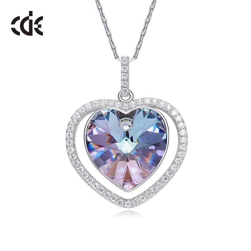 925 Sterling Silver Crystal Rhinestone PENDANT Women Wedding Jewelry NO CHAIN