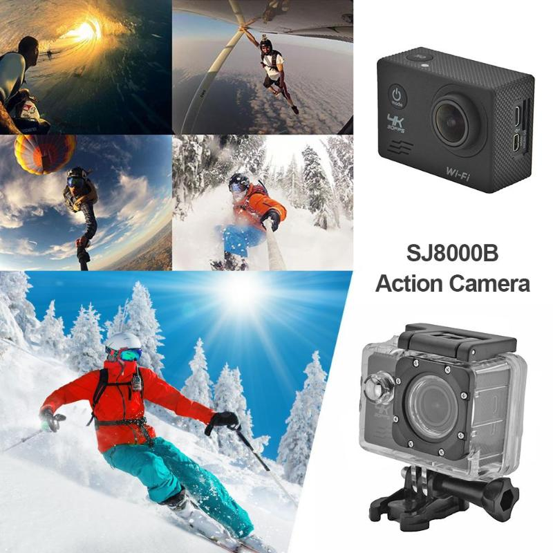 1 Stücke 4 K Action Kamera Wifi 1080 P 16mp 4x Zoom Helm 30 M Wasserdichte Unterwasser Dv Sport Cam Mit Fernbedienung/helm Basis Sport & Action-videokamera