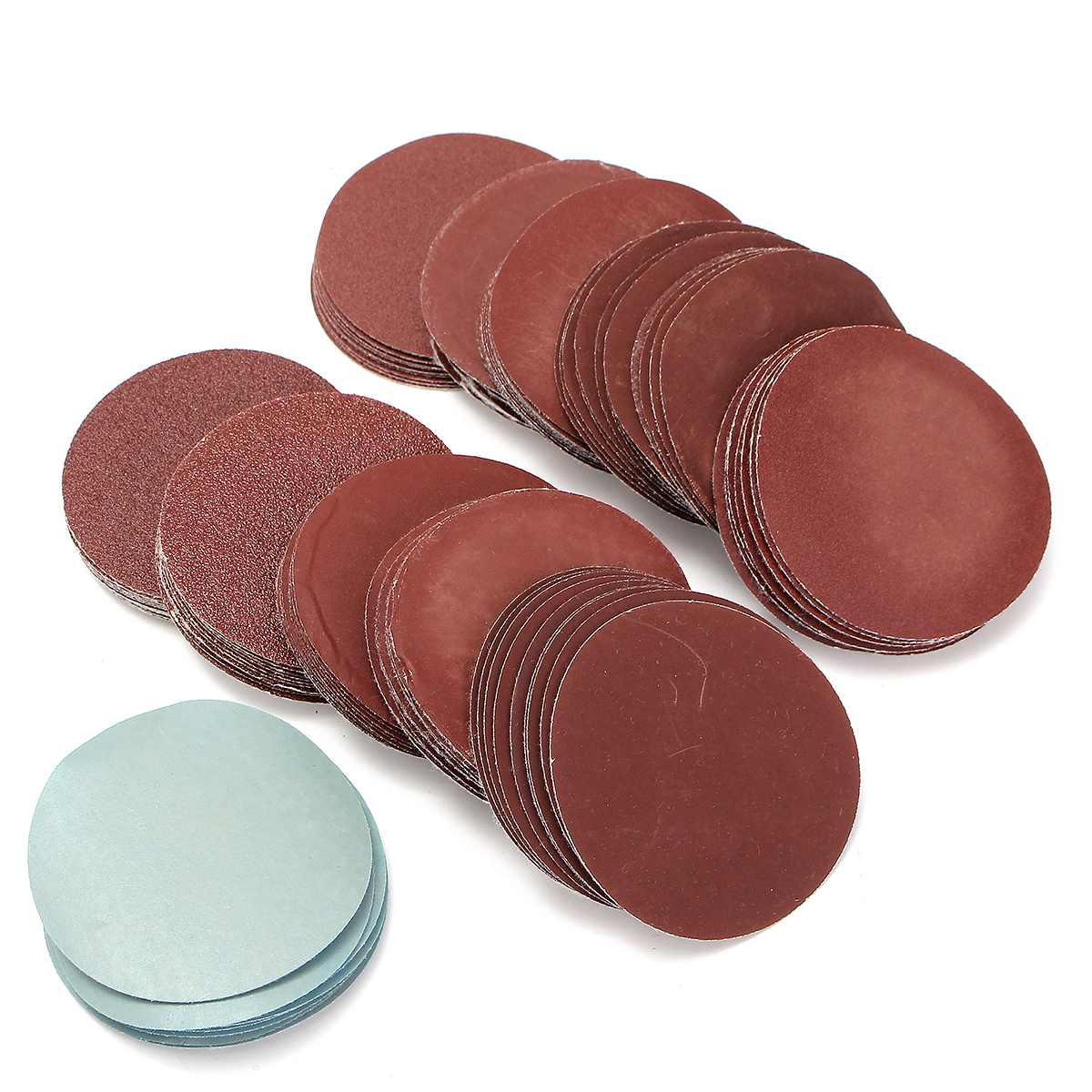 100pcs Sanding Disc Sandpaper Kit 3Inch 75mm 80 To 3000 Grit Abrasives  For General Polishing Buffing Discs Sandpaper