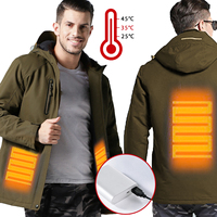new Winter Men USB Infrared Heating Ves Outdoor Electric Jacket Electric Thermal Waistcoat Clothing For Sports Hiking 3 colors