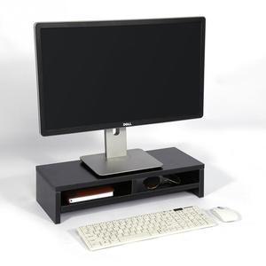 Image 1 - Desktop Monitor Stand LCD TV Laptop Rack Computer Bildschirm Riser Regal Plattform Büro Schreibtisch Schwarz