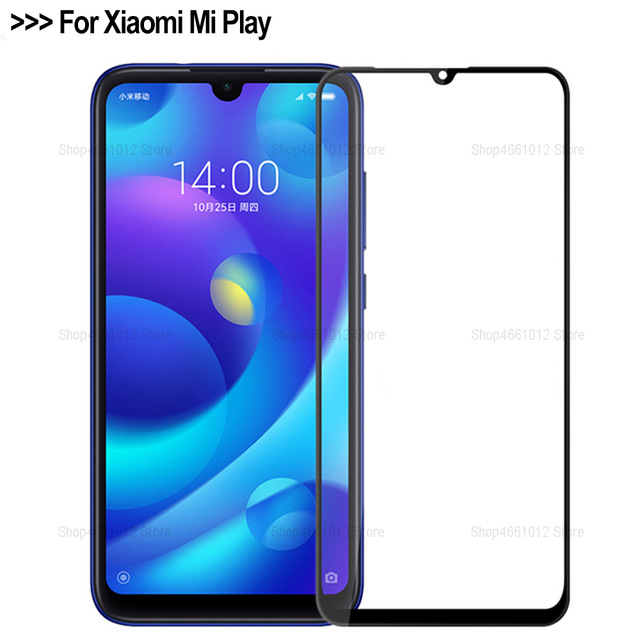 Safety Protection Glass For Xiomi Mi Play Tempered Glass Full Cover On Ksiomi Xiomi Xiami Mi Play Protective Film 2.5D
