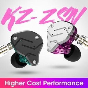 Image 2 - KZ ZSN Metal kulaklıklar hibrid teknolojisi kulak monitörü kulaklık spor gürültü iptal kulaklık 1BA + 1DD HIFI bas kulakiçi