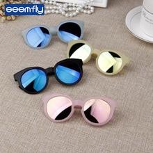 Seemfly Children Candy Color Reflective Mirror Sunglasses Un