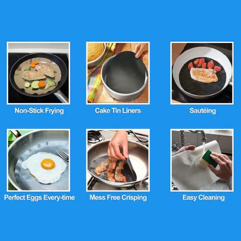 2 шт./компл. круглый многократного использования с антипригарным покрытием термостойкий Коврик для сковороды для барбекю Гриль коврик для предотвращения слипания горшок Еда из Кухня чайник