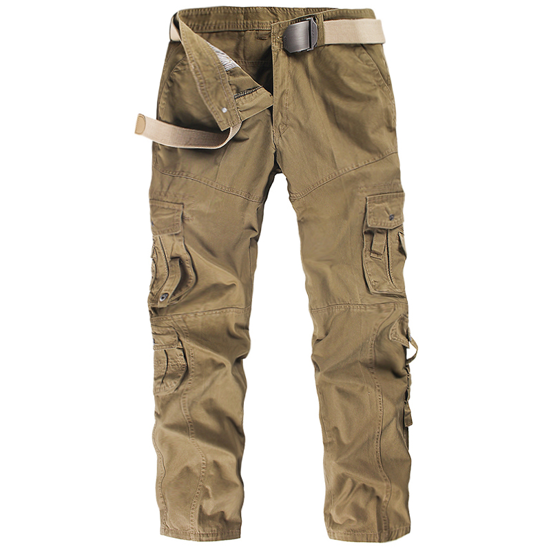 2019 Spring Cargo Pants Men Cotton Tactical Trousers Men Work Mens Overalls Pantalon Homme Joggers Army Pockets Casual Trousers