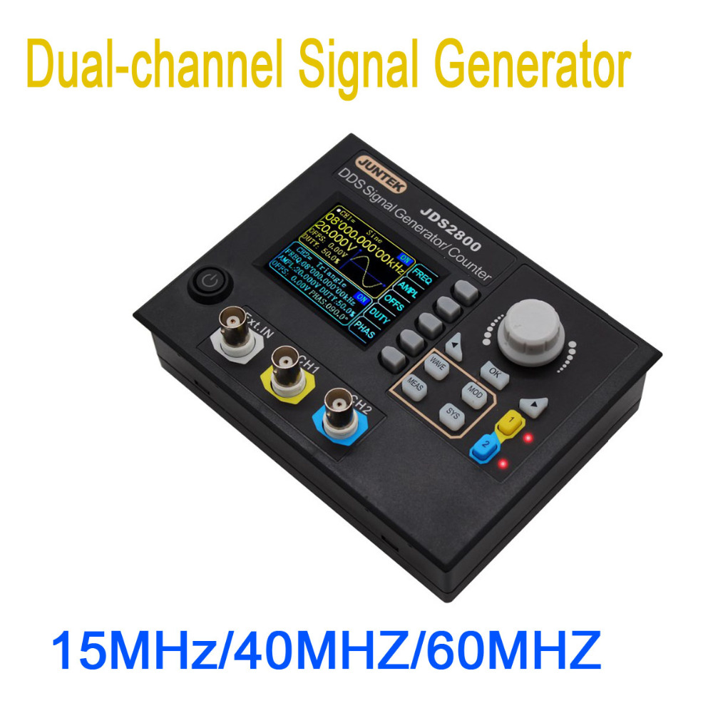 15MHz DDS Dual-Channel signal generator Source Arbitrary Waveform Pulse Sweep Counter Frequency meter 2.4 TFT color LCD display15MHz DDS Dual-Channel signal generator Source Arbitrary Waveform Pulse Sweep Counter Frequency meter 2.4 TFT color LCD display