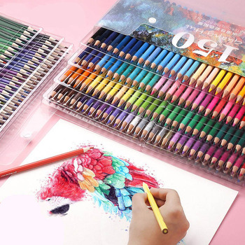 150 Colors Professional Water Soluble Colored Pencil Student Artist Sketching Drawing Pencils Set School Art Supplies Stationery