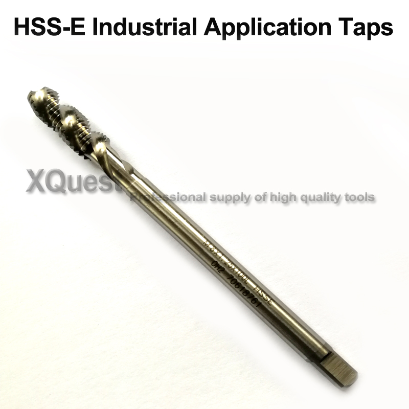 XQuest HSSE Metric Extra Long Shank Spiral Flute Tap M2 M2.5 M2.6 M3 M3.5 M4 M5 M6 M8 M10 M12 Machine Extended Handle Taps 100MM