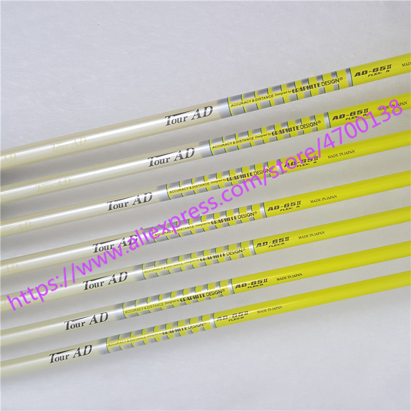 Golf Irons Clubs Golf Shaft TOUR AD 65II Graphite Golf Shaft Regular Or Stiff Or SR Flex 10pcs/lot Golf Clubs Shaft Freeshipping