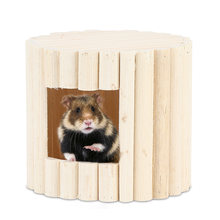 Wooden Hamster Bed Small Animal Warm House Hamster Nest Toy(China)