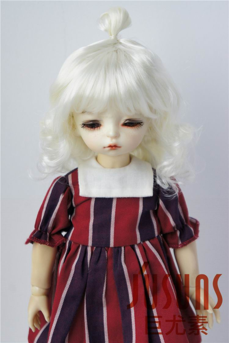 JD375 1/8 Lovely Up Style Wave Synthetic Mohair BJD Doll Wigs 5-6 - Қуыршақтар мен керек-жарақтар - фото 5