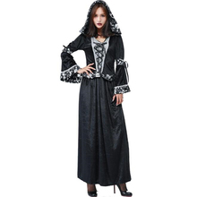 Deluxe Womens Skull Witch Costume Cosplay Halloween Carnival Purim Festival Adult Clothing