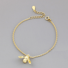 New Fashion Jewelry Beautiful 925 Sterling Silver Bracelets Bees Gold Simple Personality Sweet
