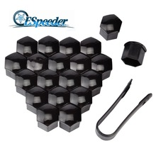 ESPEEDER 20pcs 19mm Auto Hub Screw Cover Dust Proof Car Wheel Nut Caps Special Socket Styling
