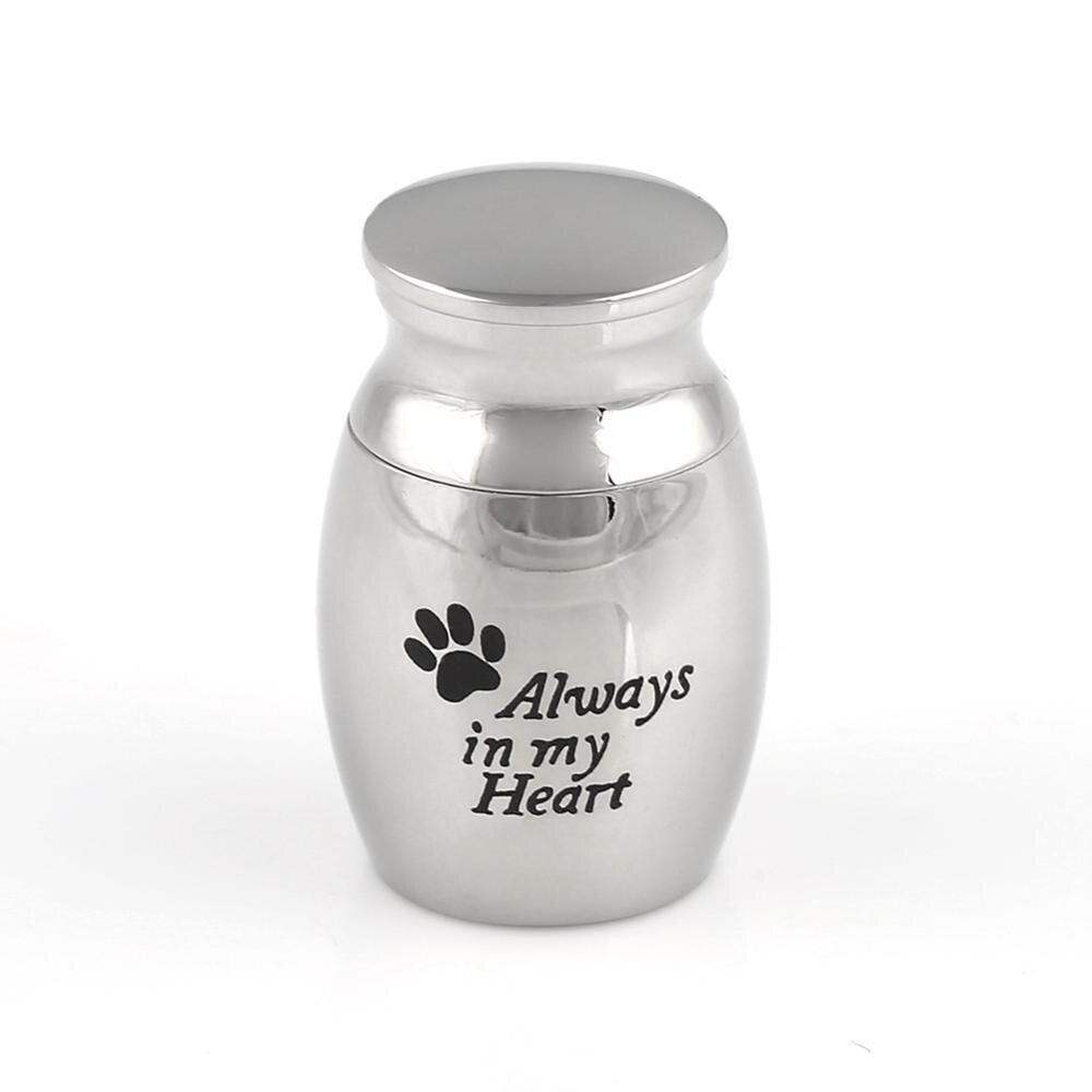 Urne commémorative en acier inoxydable pour animaux de compagnie pour cendres chien chat cendres boîte crémation
