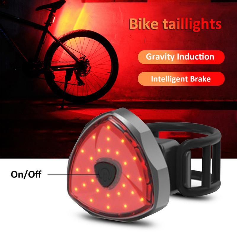 COB Intelligent Induction Rechargeable Taillight Bike Lights Lamp Rear Light