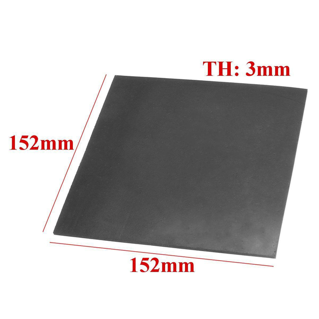 1pc Black Square Smooth Finish Rubber Sheet High