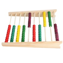 Ang Wooden Abacus 10-row Colorful Beads Counting Kid Maths Learning Educational Toy YJS Dropship
