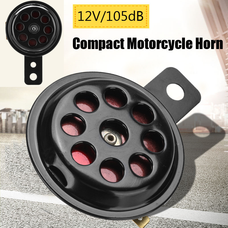12V 105dB Waterproof Motorcycle Car Truck Loud Horn Black Metal Custom Loud Motorcycle Horn Scotter Bracket