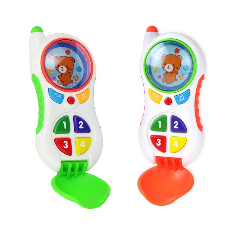Baby Puzzle Toy Phone Learning Study Musical Sound Cell Phone Songs Animal Sound Simulated Mobile Phone Kids Educational Toy image