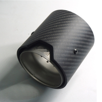 Matte Carbon Fiber Car Exhaust tip 73MM IN 93MM OUT For BMW M Performance exhaust pipe M2 F87 M3 F80 M4 F82 F83 M5 F10 M6