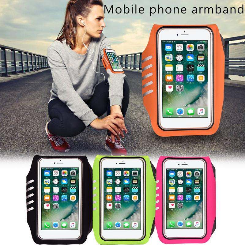 Mobile Phone Armband Touch Screen Fingerprint Unlock Belt For Outdoor Sports Yoga Running