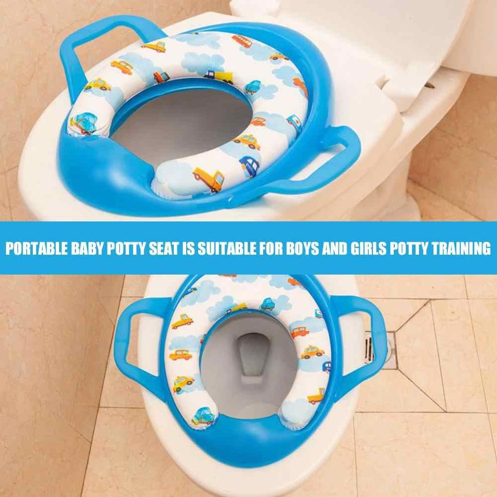 เป็นมิตรกับสิ่งแวดล้อมเด็ก Potties Soft การฝึกอบรมที่นั่งเด็กเทรนเนอร์จับ WC ผู้ช่วยไม่เต็มเต็งห้องน้ำ Pad สำหรับเด็ก