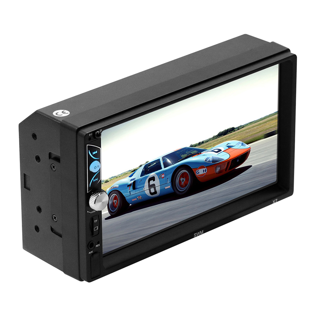 "2 Din MP5 Auto Media Player USB Bluetooth Audio Video Player Android 8.1 for IOS HD 7"" Touch Screen Stereo Radio"