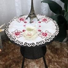 Современная роскошная атласная Скатерть, Изысканная Цветочная вышивка, тонкая кружевная Балконная скатерть, обеденный стол, свадебные украшения для кухни